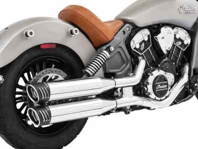 "Indian Scout Freedom Racing 4"" Slip-On Exhaust"