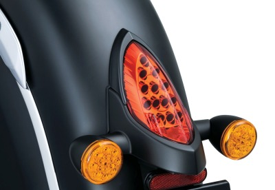 Küryakyn Taillight Top Trim 5623 Satin Black
