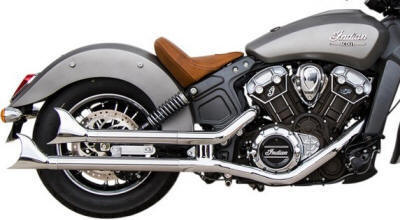 Indian Scout Staggered Longtail Mufflers SS-165