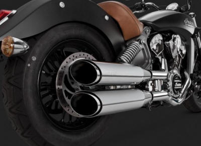 Indian Scout Twin Slash Round Slip-Ons 18621