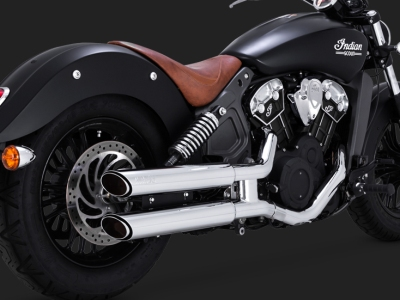 Indian Scout Twin Slash Staggered Slip-Ons 18623