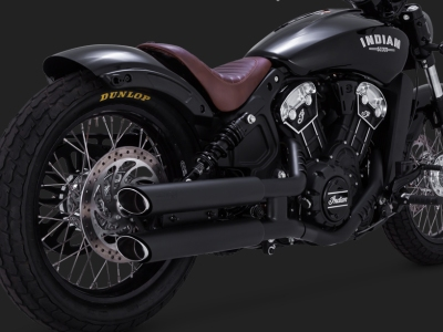 Indian Scout Twin Slash Staggered Slip-Ons 48623